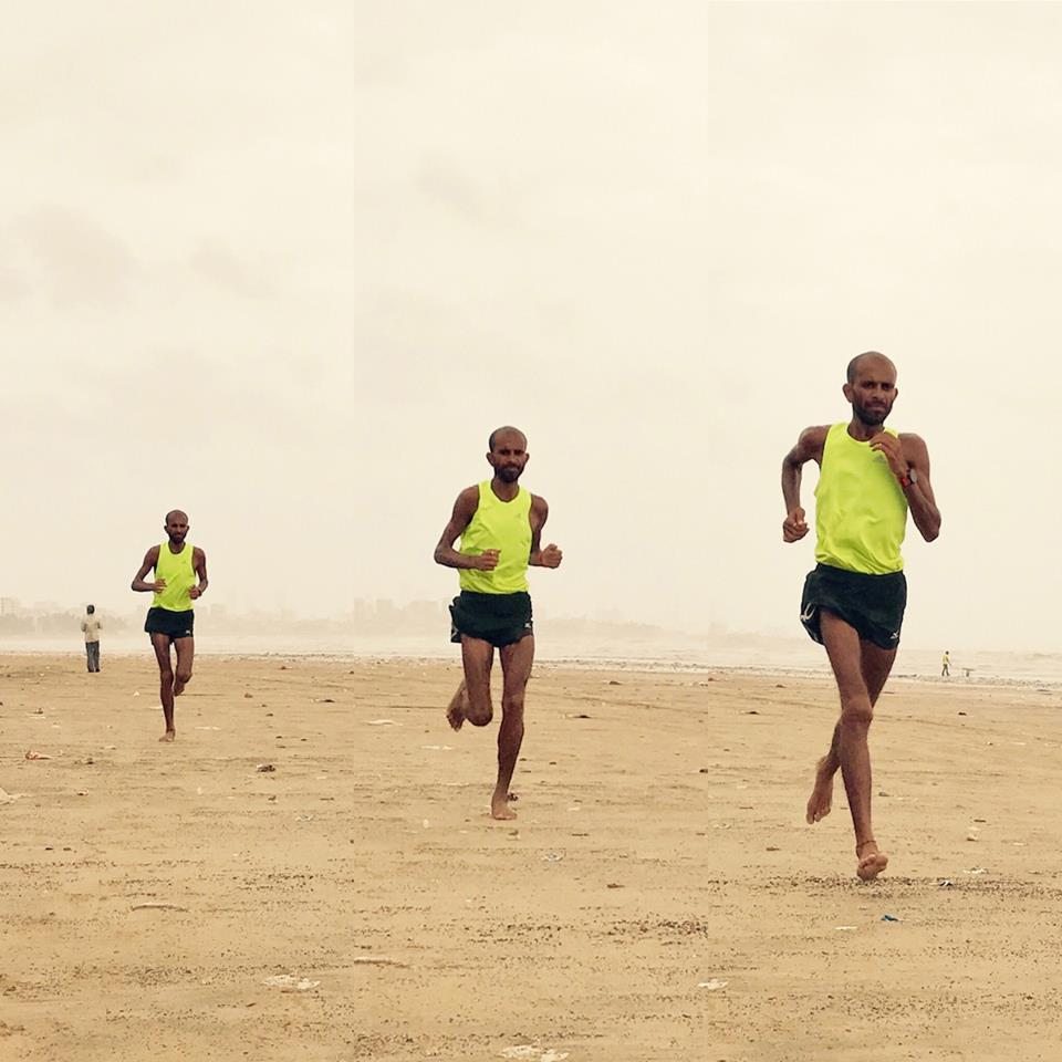 Samir Singh running in Mumbai. – Collage 1