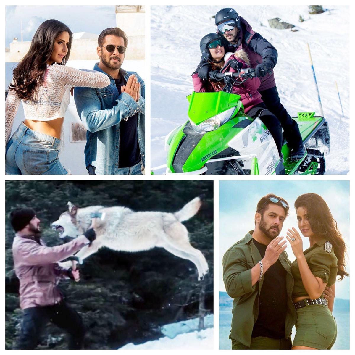Salman Khan and Katrina Kaif in Tiger Zinda Hai. Collage 1. (Images courtesy – Google)
