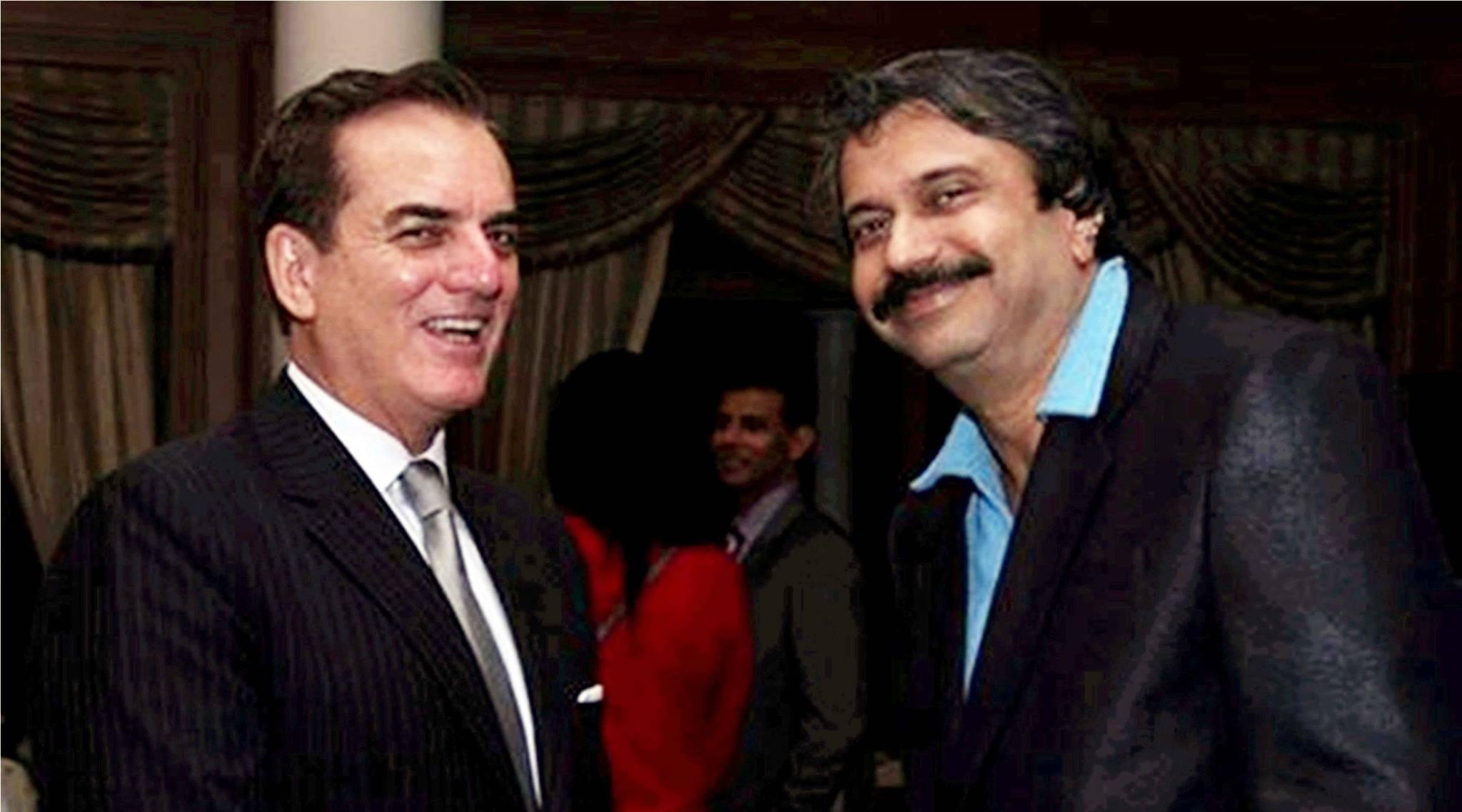 Ambassador of Brazil His Excellency Tovar da Silva Nunes complimenting Chaitanya Padukone (right) for the book R.D.BurMania – PanchaMemoirs.