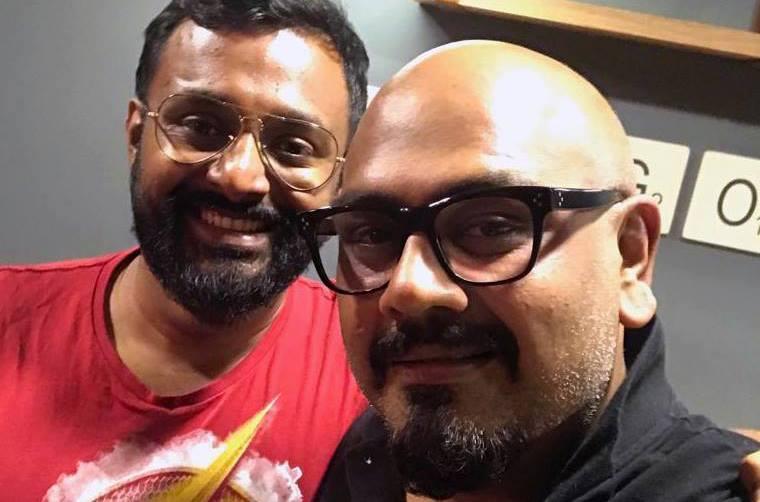 Anand Bhaskar with Varkey Patani