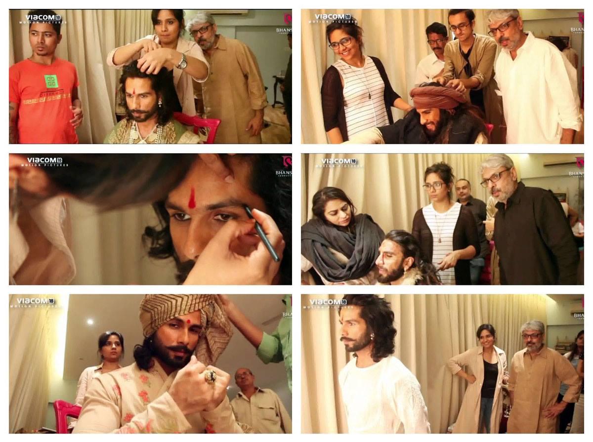 Test shoot of Padmaavat – collage